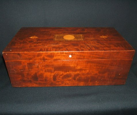 108: Antique Pullman Car Style Inlay Box