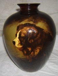 1: Antique Weller Dog Corleone Vase