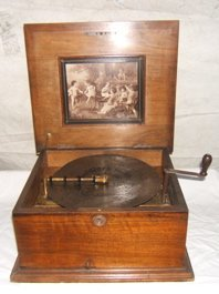 """10: Antique Polyphone Inlay Music Box 11"""" Disk"""