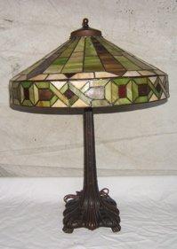 20: Antique Arts & Crafts Handel Style Lamp