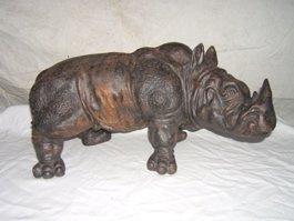 24: Signed Stoneware Rhinoceros