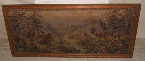 3: European Mountain & Elk Tapestry