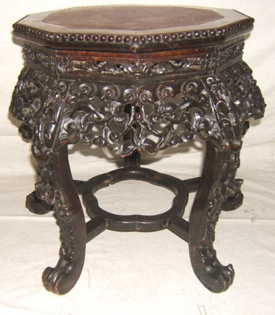 5: Antique Asian Marble Top Table