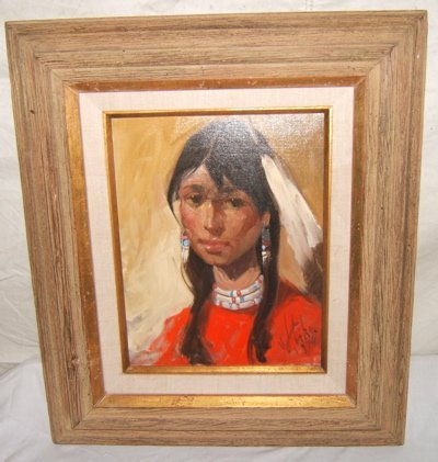 6: Painting of Indian Woman by Stiha