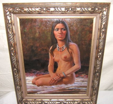7: Painting of Nude Indian by Abeita
