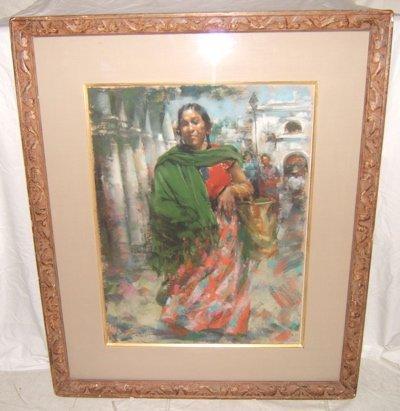 "15: Painting by Ramon Kelly ""Oaxaca Market Day"""
