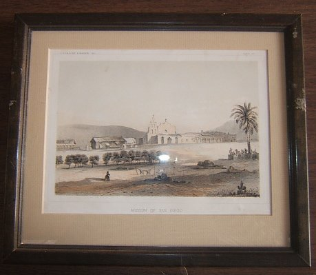101: Mission of San Diego Lithograph