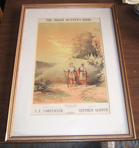 107: The Indian Hunter's Bride Lithograph