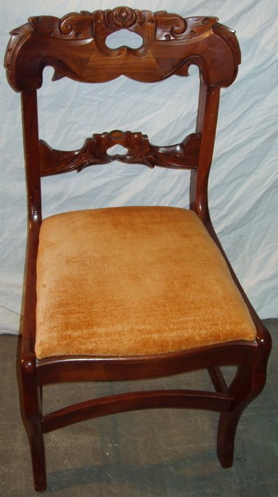 15: Victorian Carved Walnut Chair