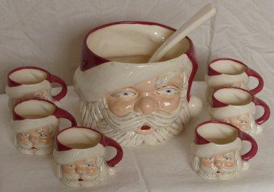 203: Santa Claus Punch Bowl Set