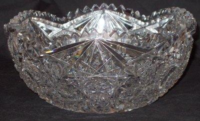 218: American Cut Crystal Bowl
