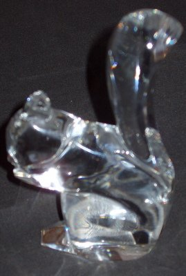 276: Baccarat France Crystal Squirrel