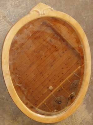 Antique Maple Bevel Mirror