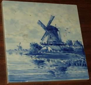 Signed J.K.E. 1579 CI Delft Holland Tile