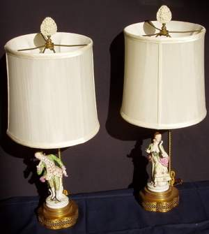2 Figural Lamps of Man & Woman
