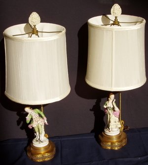 415: 2 Figural Lamps of Man & Woman