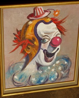 418: W.T. Howard 1969 Painting of a Clown