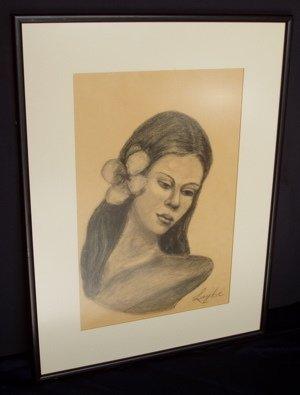 424: Polynesian Woman Signed Layka