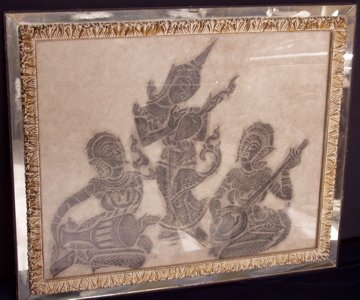 428: Temple Rubbing of People Playing Instruments