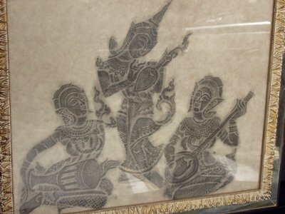 428: Temple Rubbing of People Playing Instruments - 2