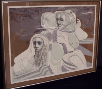 """449: Lithograph 101 of 120 """"1969"""" People"""