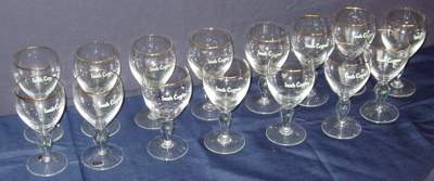451 15 Signed Waterford Crystal Glasses Ireland
