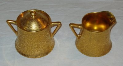 1: Cream & Sugar Bowl Royal Epiag Czechoslovakia