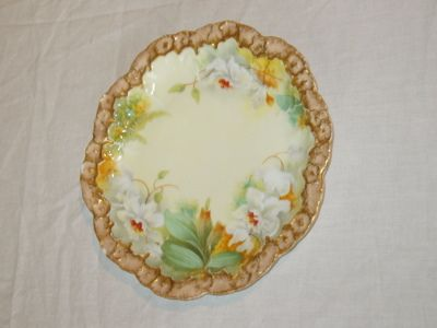 French Hand Painted Plate, A-L Limoges