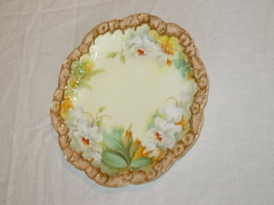 2: French Hand Painted Plate, A-L Limoges