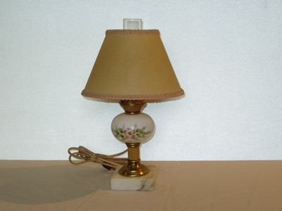 Hand Painted Porcelain Marble Lamp