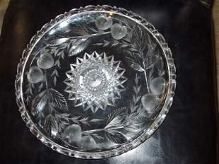 American Cut Crystal Plate