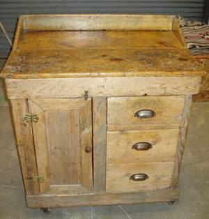Primitive Pine Cobblers Cabinet