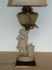 30: Antique Figural Lamp