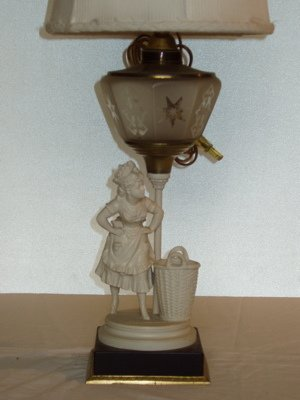 30: Antique Figural Lamp