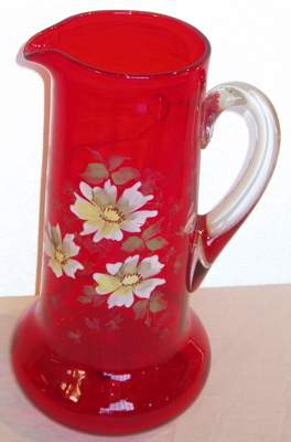 Antique Hand Painted Pitcher