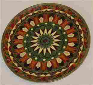 Middle Eastern Enameled Plate