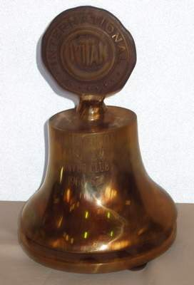"Brass Trophy Award ""Bell Style"" Russell Hampton Co."