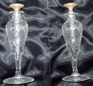 101: 2 Cut Crystal Perfume Atomizers