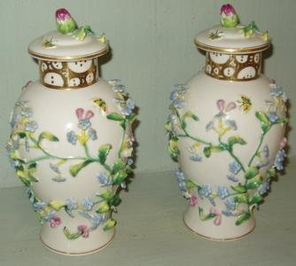 "103: 2 Porcelain Decorative Jars""Japan"""