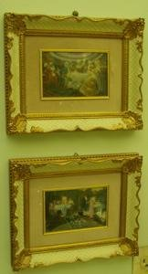 114: 2 French Style Paintings