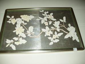 116: 6 Oriental Pictures w/Silver Frames