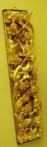 119: 2 Gold Carved Bird Motif