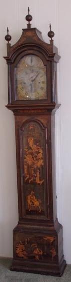 222: 18th Century Rare Chinoiserie Grandfather Clock