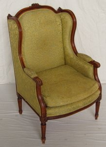 14: French Style Wing Back Chair