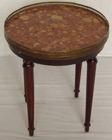 17: French Marble Top Lamp Table