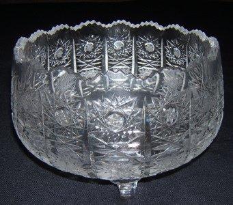 1: Cut Crystal Footed Bowl