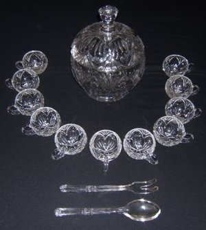5: Cut Crystal Punch Bowl Set