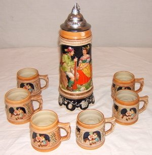 6: German Stein with Cups