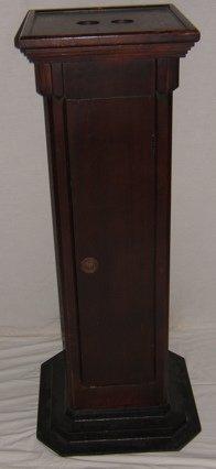 20: Antique Ticker Tape Pedestal Base