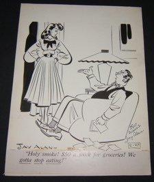 7: Comical Original Drawing by Cartoonist Jay Alan